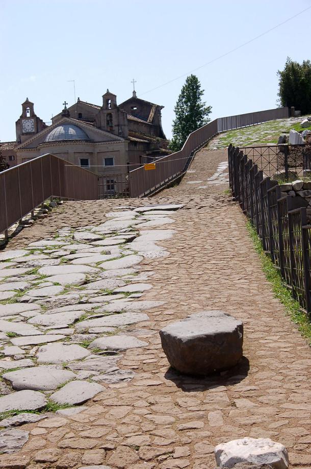 Allée pavée Forum romain