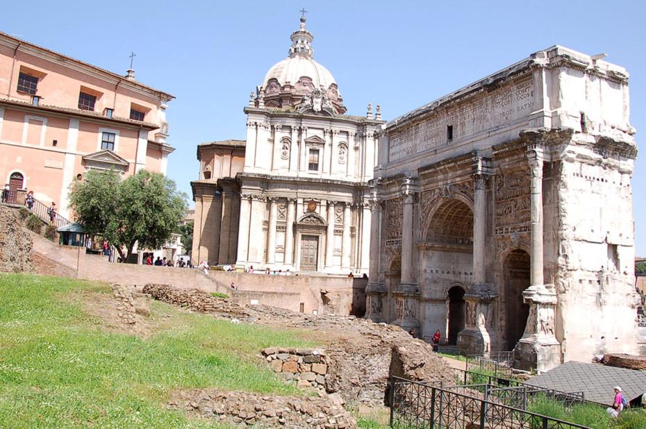 Arc Septime Sévère Curie Forum romain