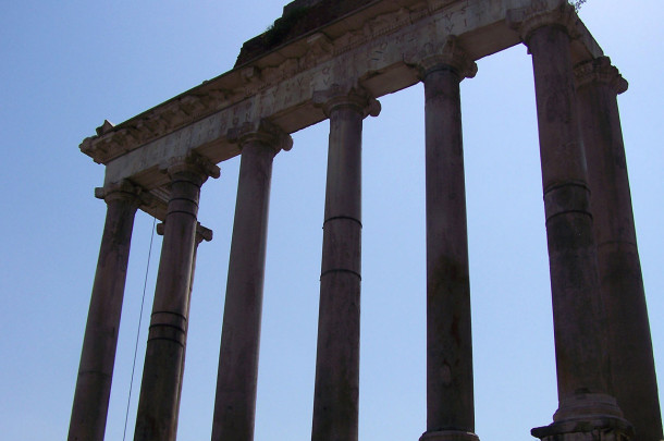 Colonnes façade Basilique Julia