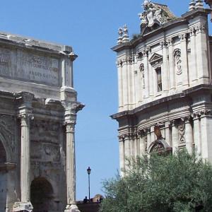 Le Forum Romain de Rome en Italie