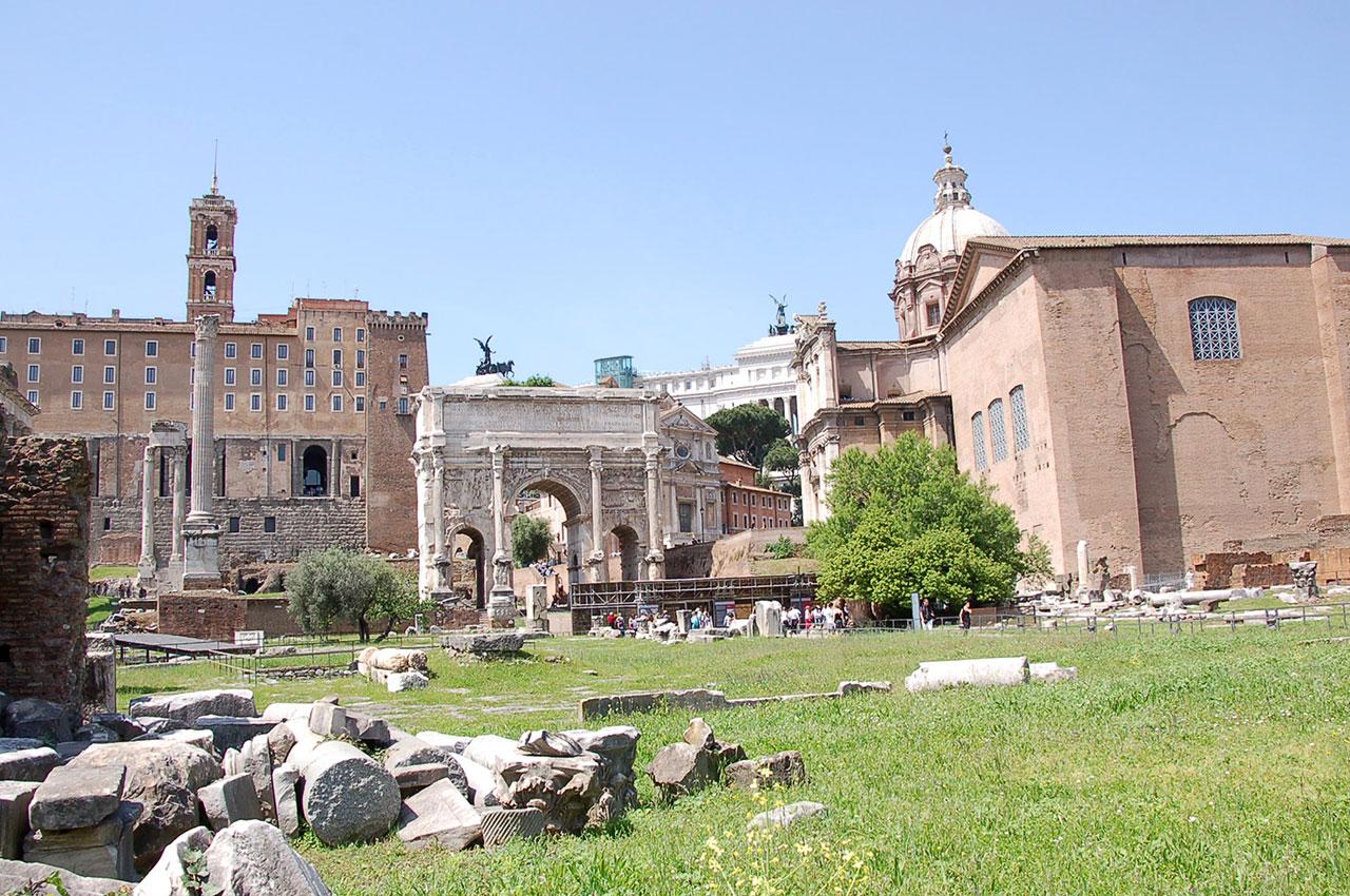 Vue générale Forum romain