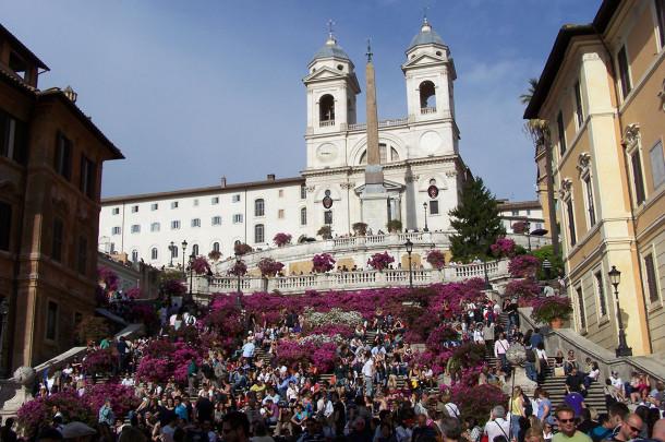 L'escalier de la Trinité des Monts - Rome
