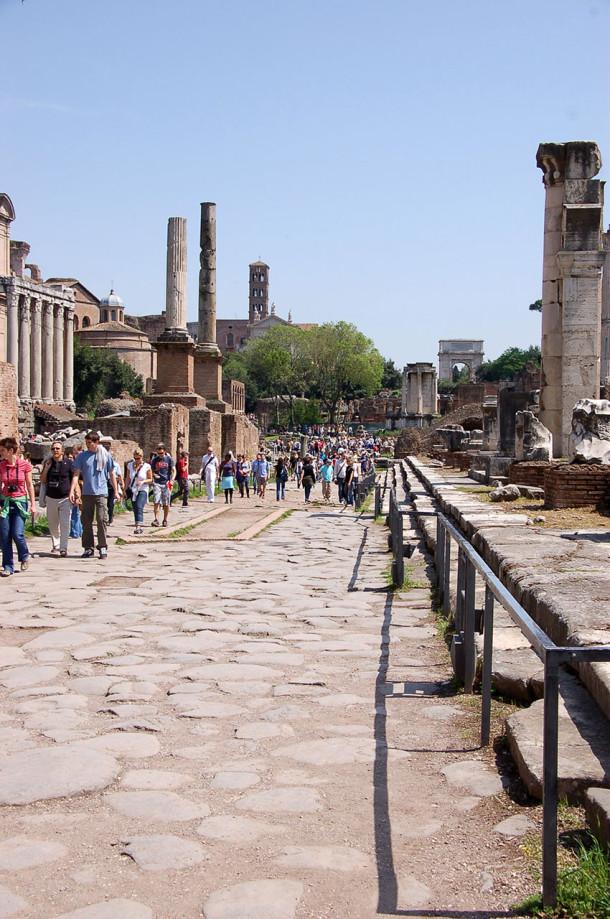 Allées pavées Forum romain