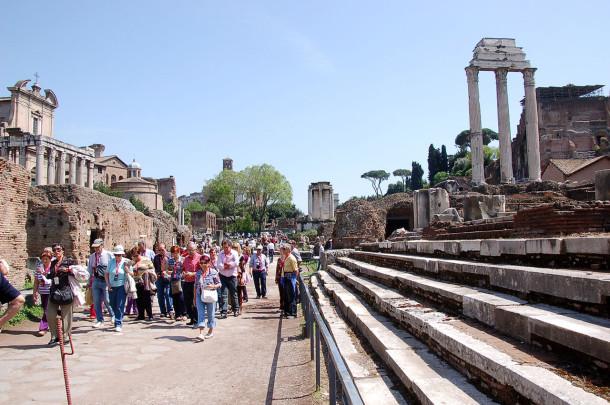 Visite ruines Forum romain