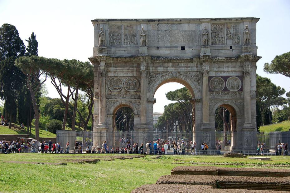 L'Arc de Constantin est bien conservé