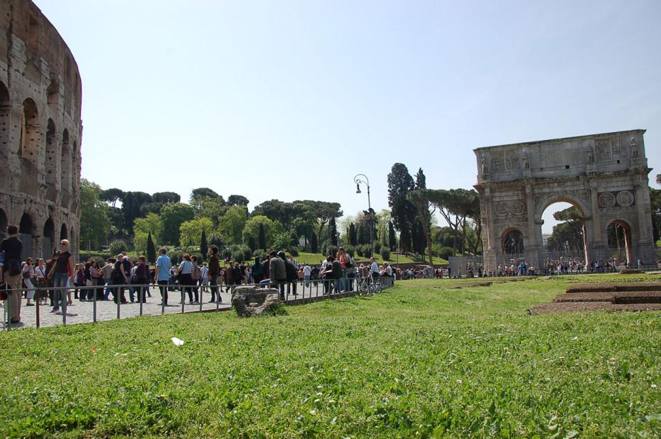 L'Arc de Constantin, proche du Colisée