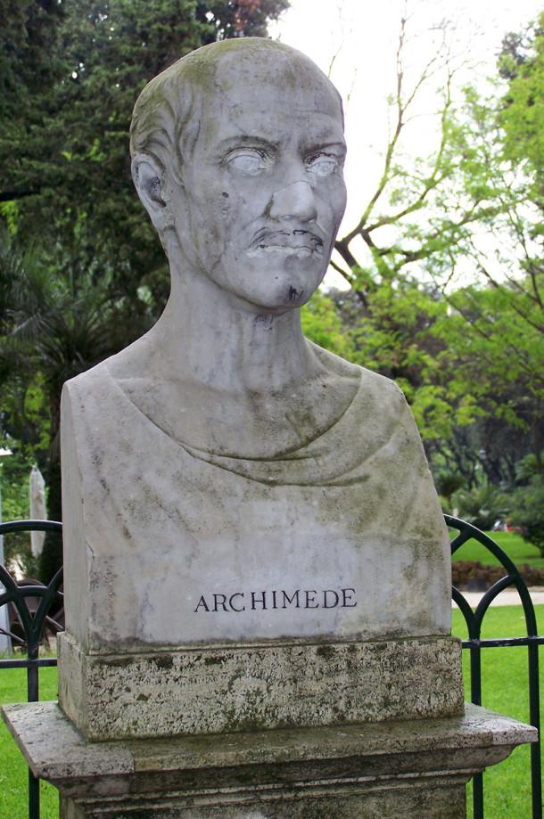 Buste d'Archimède à la Villa Borghèse