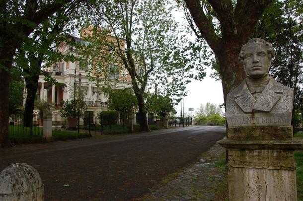 Buste de Vincenzo Bellini à la Casina Valadier