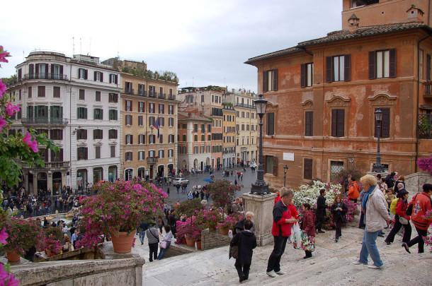 Les célèbres marches de la Piazza di Spagna