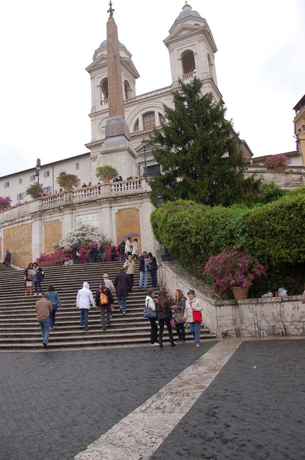 Visite de la Trinité des Monts de Rome