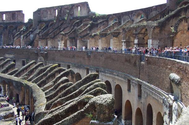 Visite de l'intérieur du Colisée