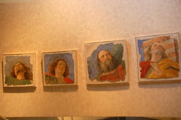 Melozzo da Forli', têtes d'apôtres.