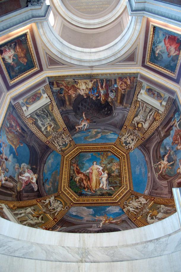 Peinture plafond du musée