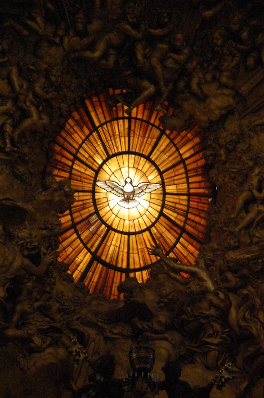 Vitrail du Saint-Esprit de Gian Lorenzo Bernini