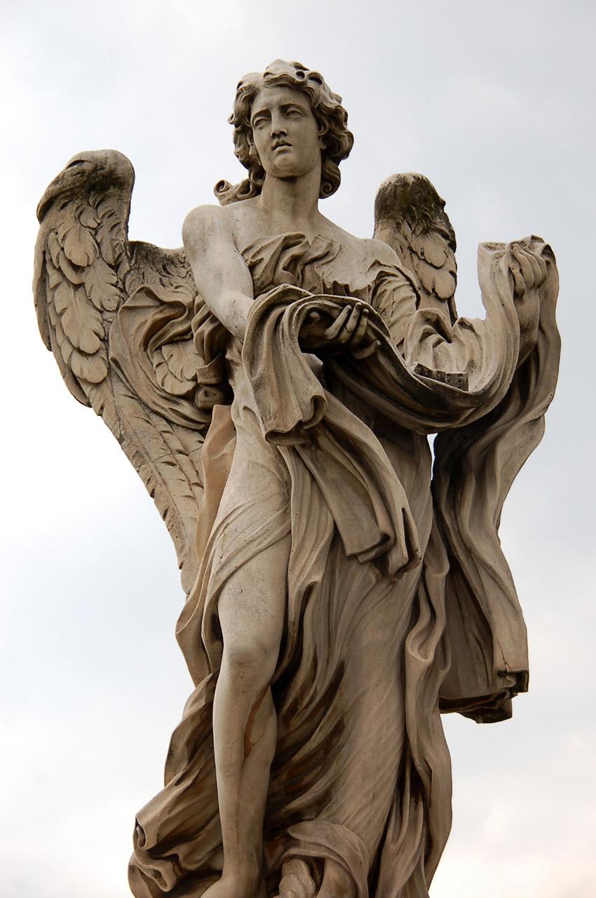 Ange portant un vêtement et des dés de Paolo Naldini