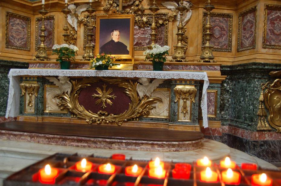 Bougies à la basilique Saint Ambroise Saint Charles