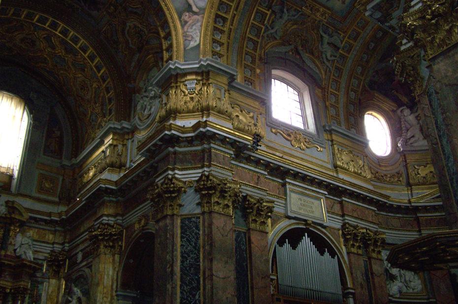 Dorures basilique Saint Ambroise Saint Charles