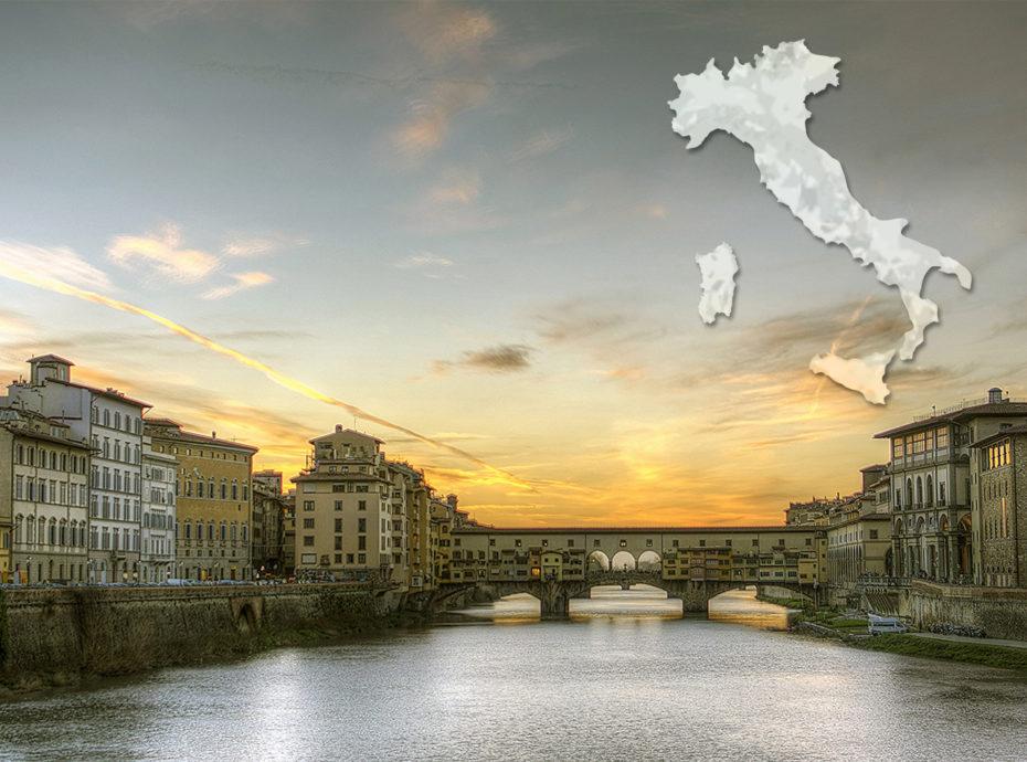 Carte illustrée de l'Italie