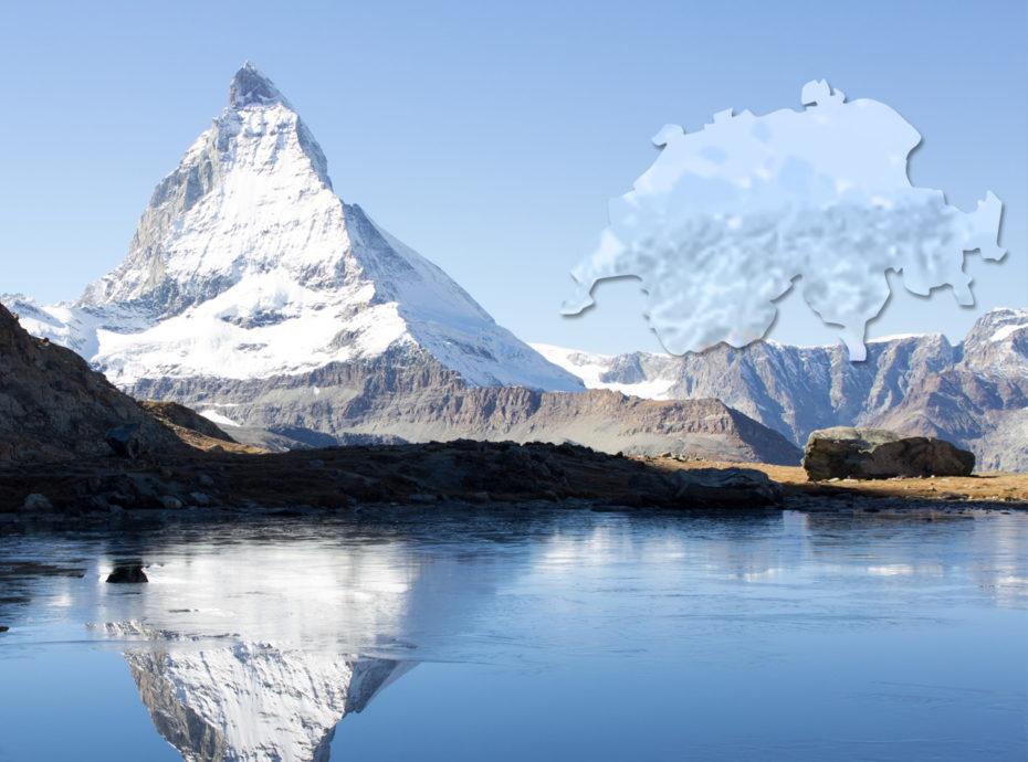 Carte illustrée de la Suisse
