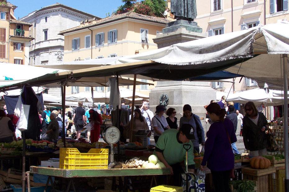 Marché tous les jours au Campo dei Fiori