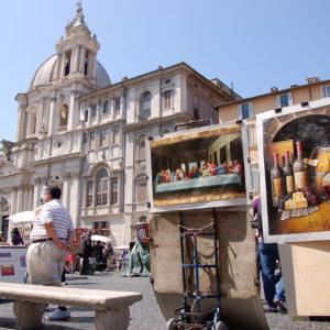 Artistes peintres place Navone
