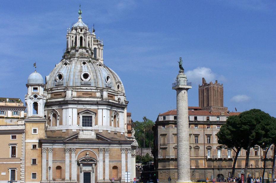 Place Venezia colonne Trajane Santa Maria di Loreto