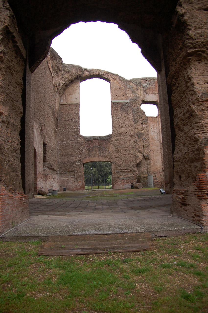 Les ruines des thermes bien conservées