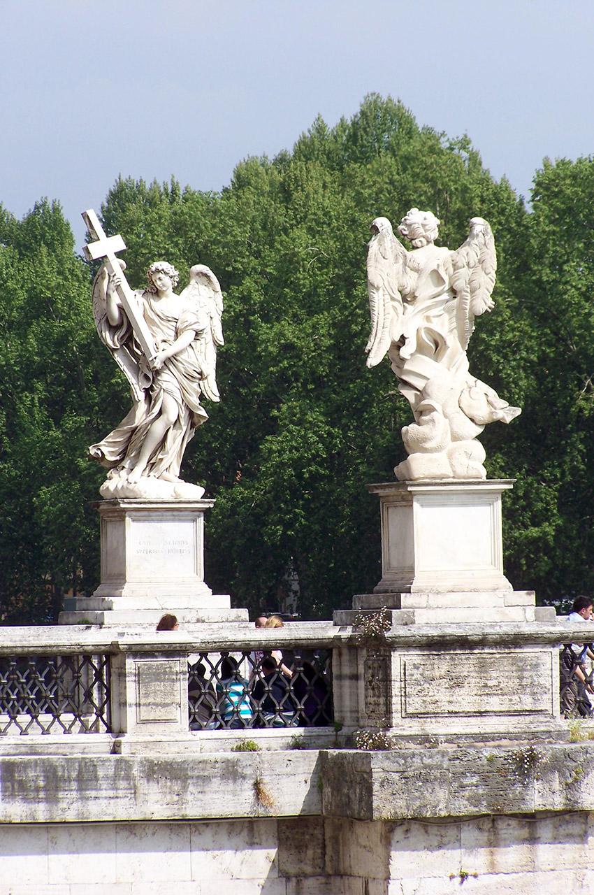 Statues d'anges au pont St-Ange