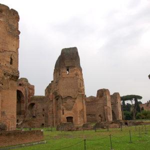Construction des thermes de Caracalla