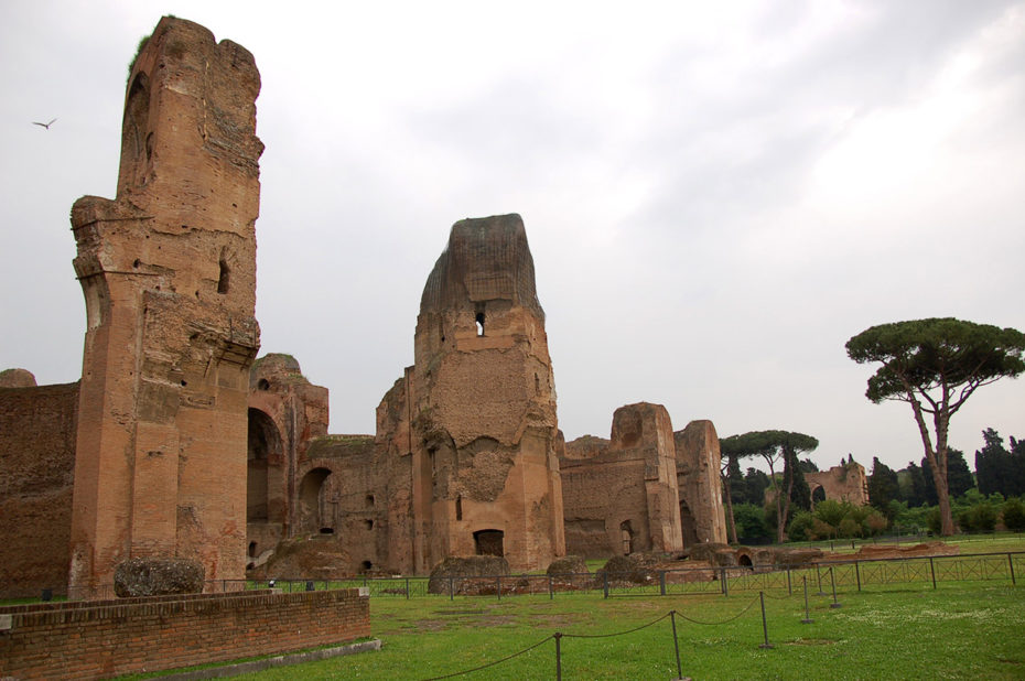 Construction des thermes de Caracalla