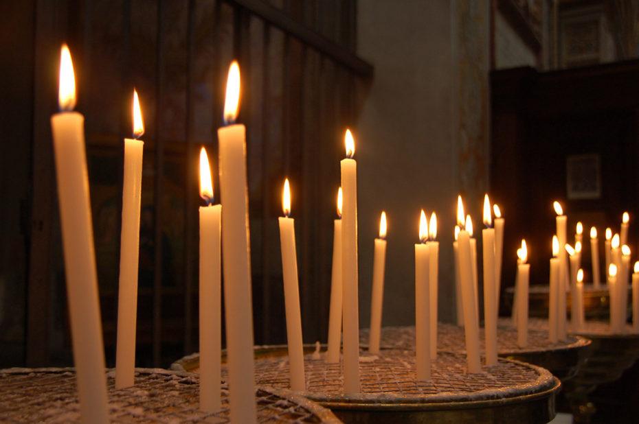 Bougies à Santa Maria in Trastevere