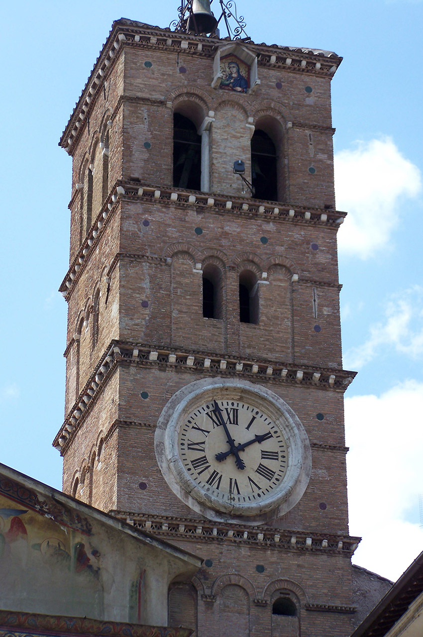 Clocher église Santa Maria in Trastevere