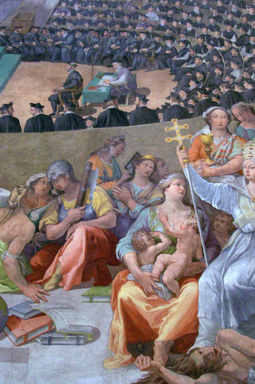 Fresque dans l'église Santa Maria in Trastevere
