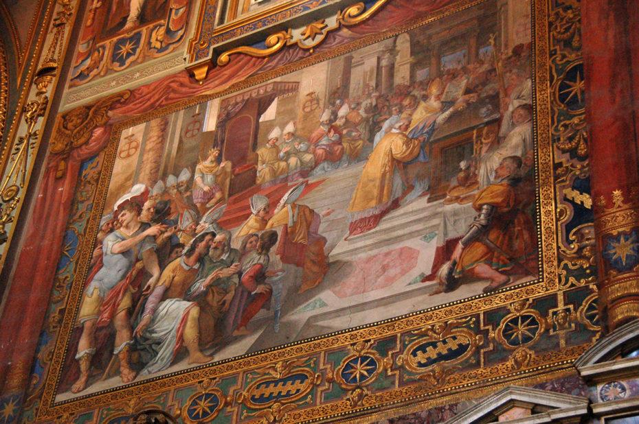 Fresque dans le transept de Saint-Jean-de-Latran