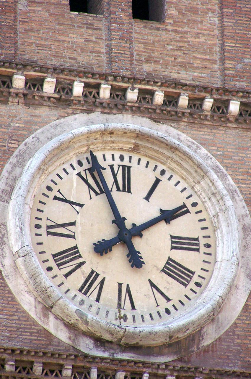 Horloge église Sainte-Marie-du-Trastevere