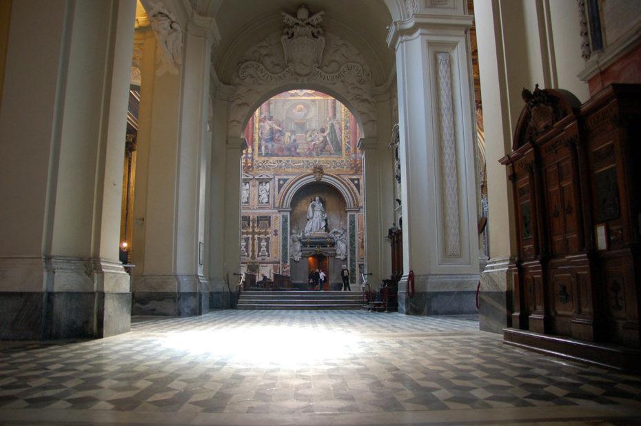 Dans une nef latérale de Saint-Jean-de-Latran