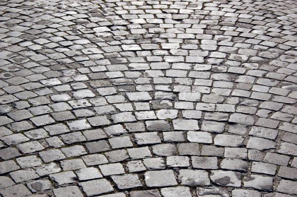 Rue pavée dans Rome