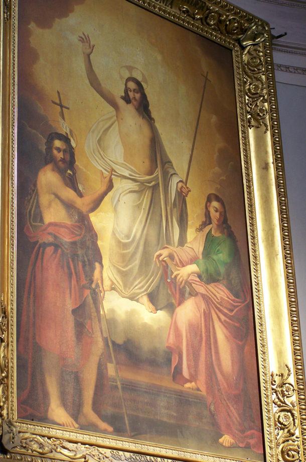 Tableau de l'autel, du Cavalier d'Arpin