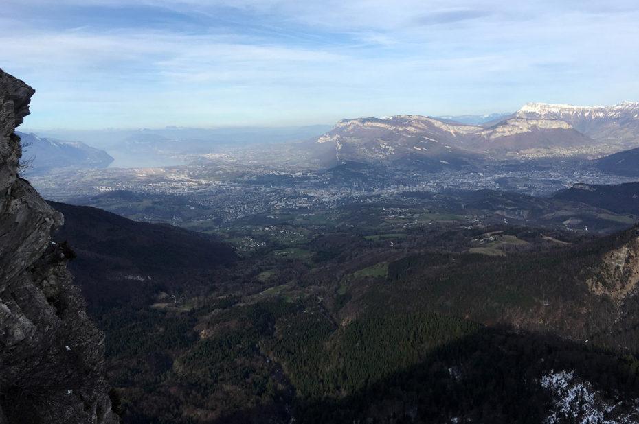 Vue sur Chambéry et le Lac du Bourget