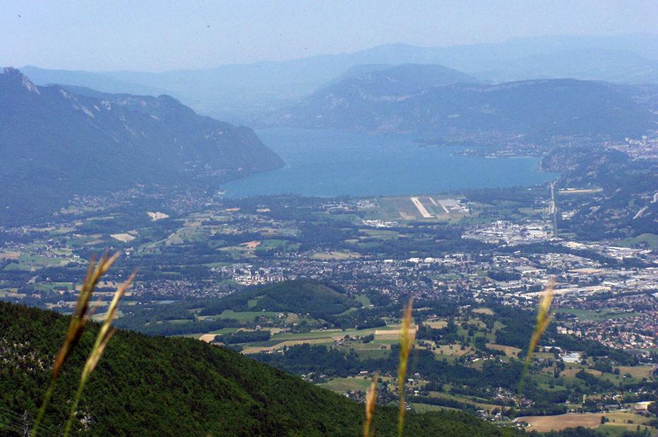 Chambéry et le lac du Bourget