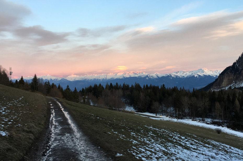 Coucher de soleil sur le Massif du Mont-Blanc