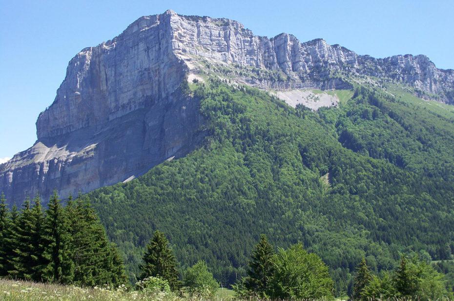 L'imposant mont Granier