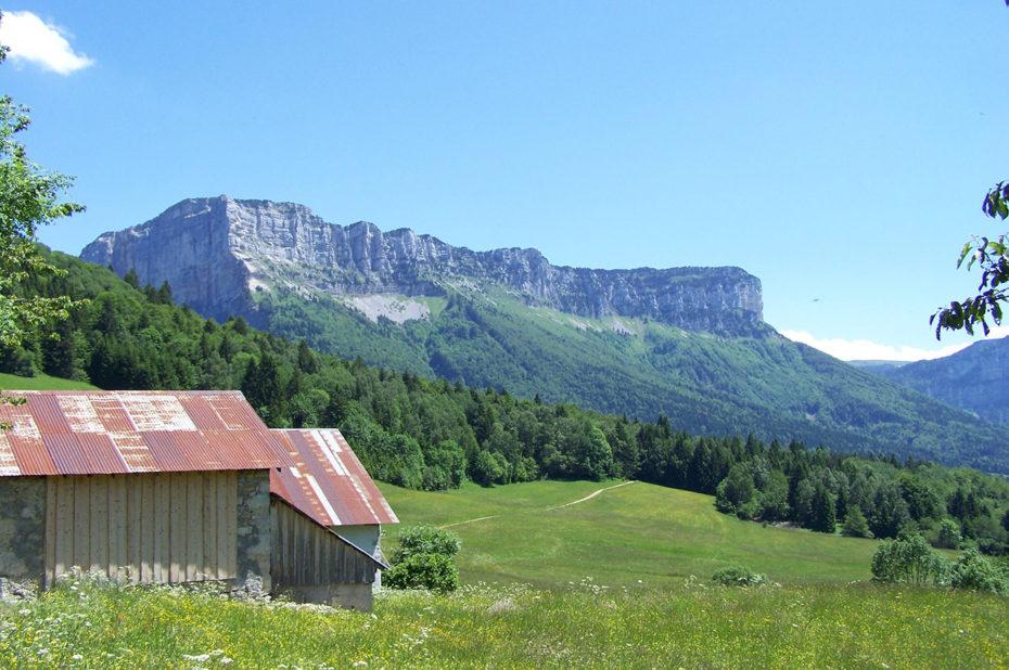 Le mont Granier depuis les granges de Joigny
