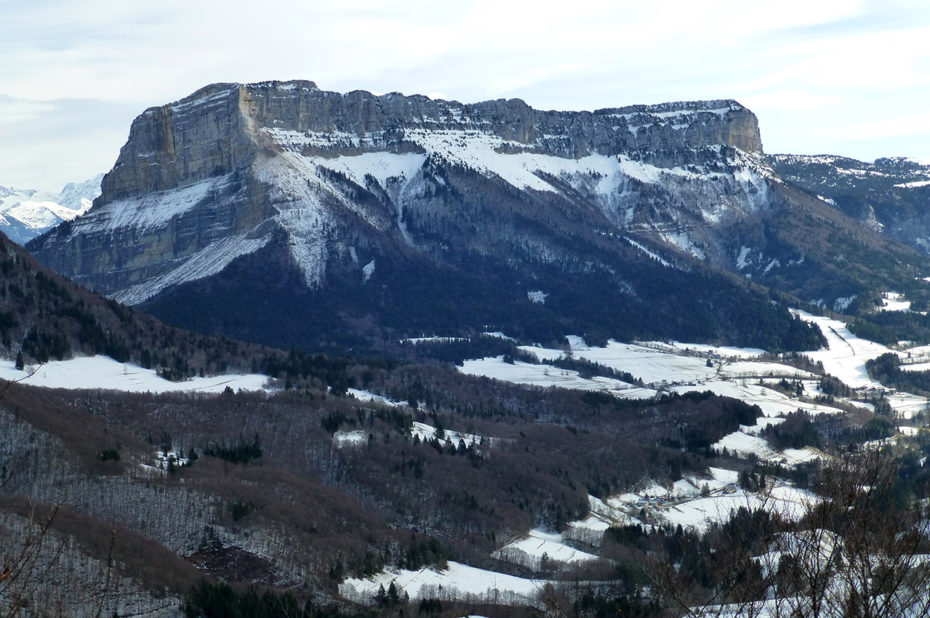 Le mont Granier sous la neige en février