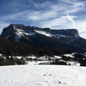 Le mont Granier en hiver