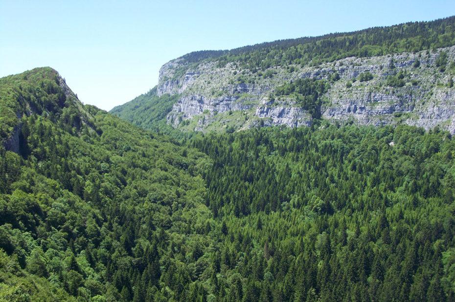 Le Mont Joigny (à droite)