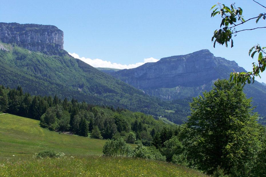 Prairies vers la vallée d'Entremont