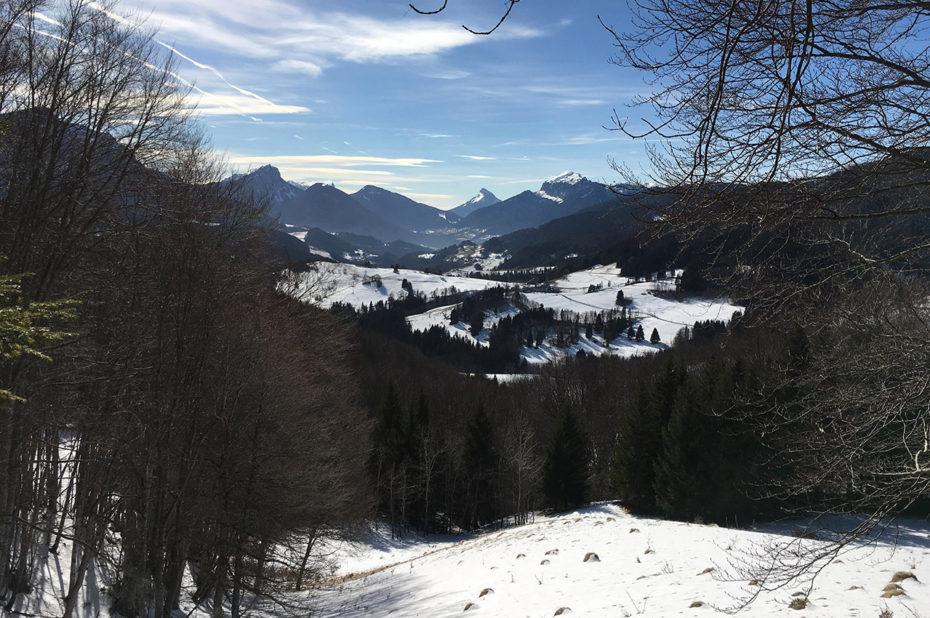 La vallée d'Entremont en hiver