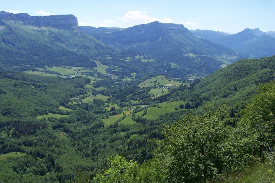 Vue sur la vallée d'Entremont