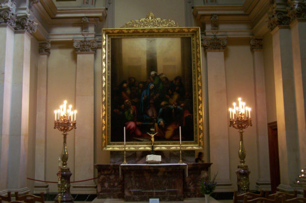 Chapelle du Berliner Dom avec une magnifique peinture